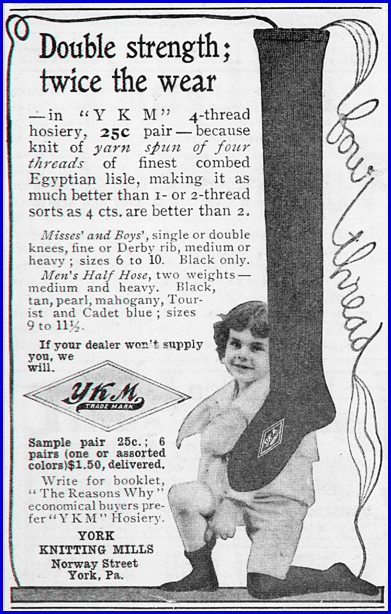 1904 York Knitting Mills Ad (S. H. Smith Collection)