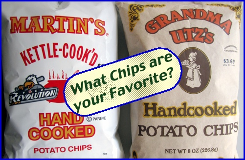 Bags of Martin's and Grandma Utz's Handcooked Potato Chips (2013 S. H. Smith Photo)