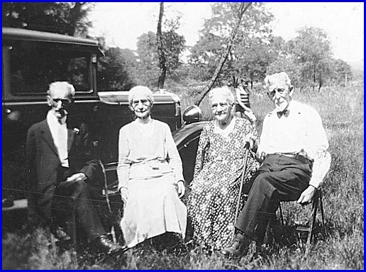 1932 Sixtieth Wedding Anniversary Photo of John & Lizzie Gilbert (right side) and their attendants George & Esther Heim (Photo from Collection of Shirley Keeports)