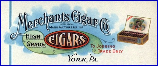 Letterhead for Merchants Cigar Company, York, PA (S. H. Smith Collection)