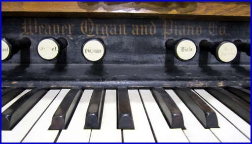 Detail of an old Weaver Organ on Display at Agricultural & Industrial Museum, York, PA (2013 Photo, S. H. Smith)