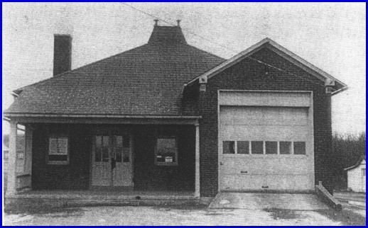 "Photo of the initial Springetts Fire Station in Springettsbury Township (From ""Springetts Fire Company 50th Anniversary (1926-1976)"" Booklet in collection of York County Heritage Trust)"