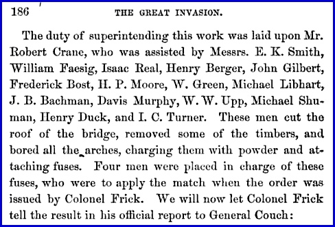 "Paragraph on Page 186 of ""The Great Invasion of 1863"" by Jacob Hoke"