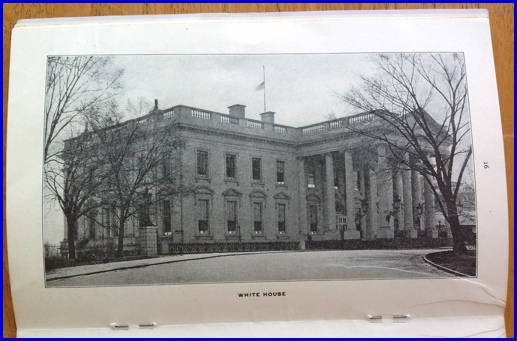The White House shown on page 16 of a 1902 Pullman Automatic Ventilator Company Catalogue (Catalogue in Collection of Hagley Museum & Library, Wilmington, DE)
