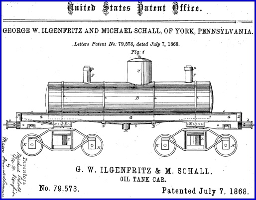 Drawing of U.S. Patent No. 79,573