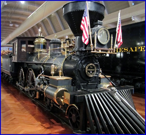 Rogers 4-4-0 Steam Locomotive at Henry Ford Museum in Dearborn, Michigan (2013 Photo, S. H. Smith)