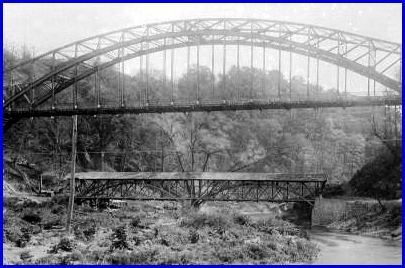 Paper Mill Covered Bridge below new Paper Mill Road Steel Bridge northeast of Cockeysville, Maryland (Photo Dated Oct. 24, 1922, City of Baltimore, courtesy of Ron Parks, photographer unknown)
