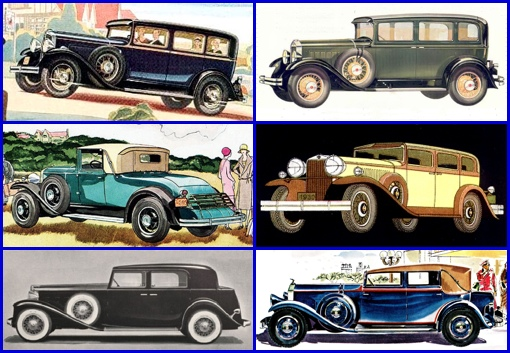 1930-31 Automobiles (From Magazine Ads)