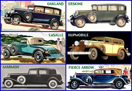 1930-31 Automobiles (From Magazine Ads; Automobile Makes from the Ads added by S. H. Smith, 2013)