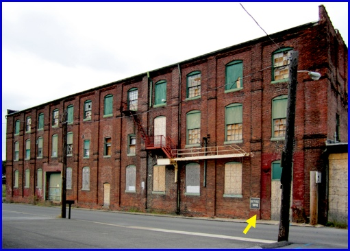South Side of the former Keystone Color Works building in York, PA (2013 Photo, S. H. Smith)
