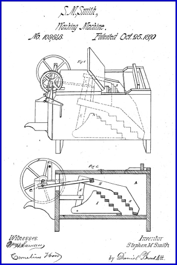 Drawings of U. S. Patent No. 108,646; by S. Morgan Smith (United States Patent and Trademark Office)