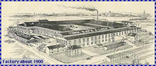 York Safe & Lock Company Factory circa 1900 (From S. H. Smith Collections)