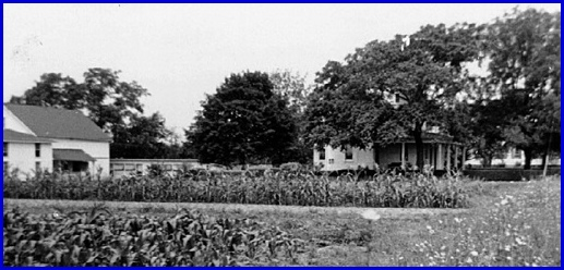 Emanuel Barshinger Farm along South Queen Street in York Township; View looks to the Northwest from the edge of South Queen Street (1957 Photo, S. H. Smith Collection)