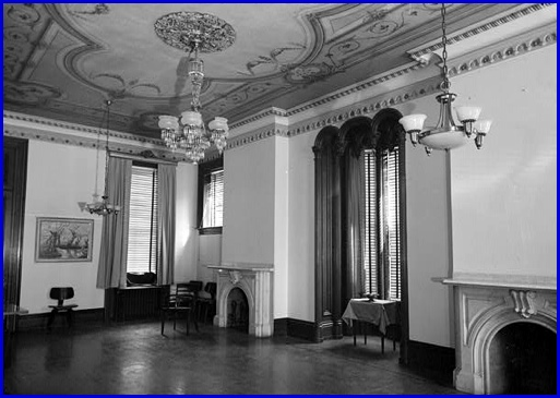 Ballroom of the Billmeyer House at 225 East Market Street, York, PA (Prints & Photographs of the Library of Congress, Historic American Buildings Survey, March 1963)
