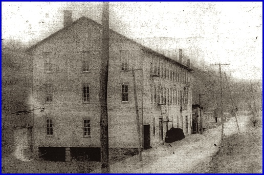 Sheffer's Hall located on Baltimore Street in Glen Rock, housed several businesses including the Industrial Sewing Company (Photo courtesy of Robert Seitz, is from page 224 of Glen Rock—An Historical Review; 1859-2009, by Dr. Charles Glatfelter, John Hufnagel and Ron Dise)
