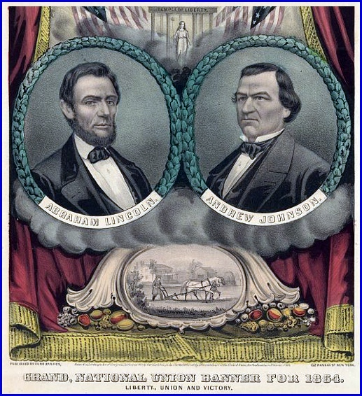 Grand, National Union Banner for 1864 (Published by Currier & Ives for Lincoln Re-election Campaign of 1864; Library of Congress Prints and Photographs)