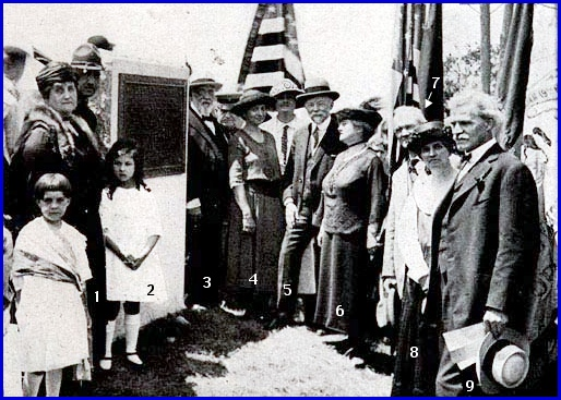 Photo at May 30th, 1922 Dedication Ceremony for ROAD OF REMEMBRANCE Memorial in Wrightsville, York County (First appeared in June 1st, 1922 issue of the York Gazette and Later appeared in July 1922 issue of American Forestry; Numbers added by S. H. Smith to better point out several of the people)