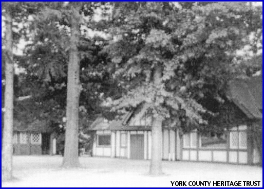 Early Photo of the Lincoln Woods Inn, Springettsbury Township, York County, PA (From Collections of York County Heritage Trust)