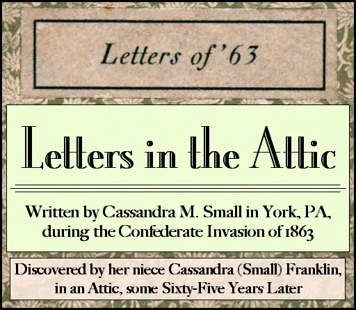 "Cover Scan of ""Letters of '63"" from Hathi Trust Digital Library (With the two lower text boxes added by S. H. Smith, 2014)"