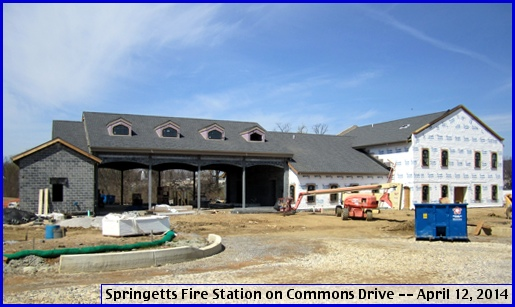 Springetts Fire Station on Commons Drive (2014 Photo by S. H. Smith)