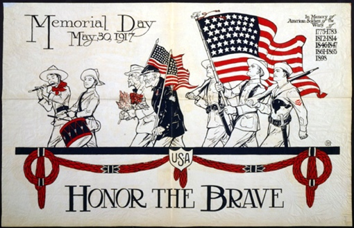 Memorial Day Poster for May 30, 1917 (Library of Congress)