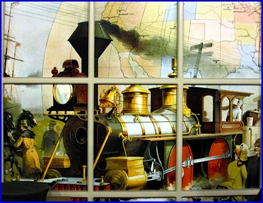Backdrop of Exhibit in The National Watch and Clock Museum, Columbia, PA (Photo by S. H. Smith, 2014)