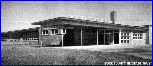 Springettsbury Township School (Photo from cover of 1952 Dedication Program in the collections of York County Heritage Trust)