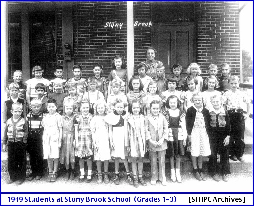 Stony Brook One-Room School Students, during 1949-1950 School Year (From Springettsbury Township Historic Preservation Committee [STHPC] Archives)