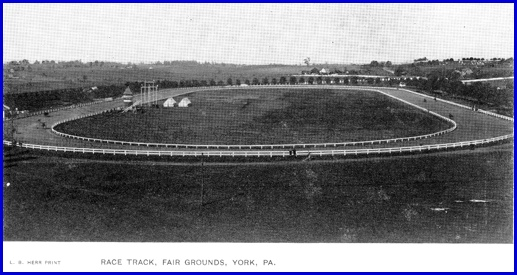 Postcard of York Fairgrounds Race Track [very late 1800s or very early 1900s] (From Postcard Collection of S. H. Smith)