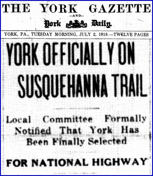 Headlines in July 2, 1918 issue of The Gazette and Daily, York, PA (From Newspaper Microfilms at York County Heritage Trust)
