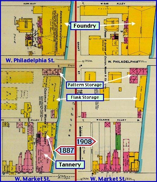 Site Map Digital: #14 Baugher, Kurtz & Stewart; The Prominent Foundry Along