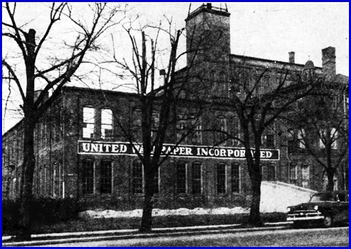 York Plant of United Wallpaper, Inc. [formerly The York Card and Paper Company] (The Gazette and Daily, April 19, 1955, page 3)