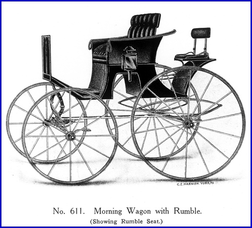 Morning Wagon with Rumble Seat (Carriage Model No. 611 in undated York Carriage Company Catalog from collections of York County Heritage Trust)