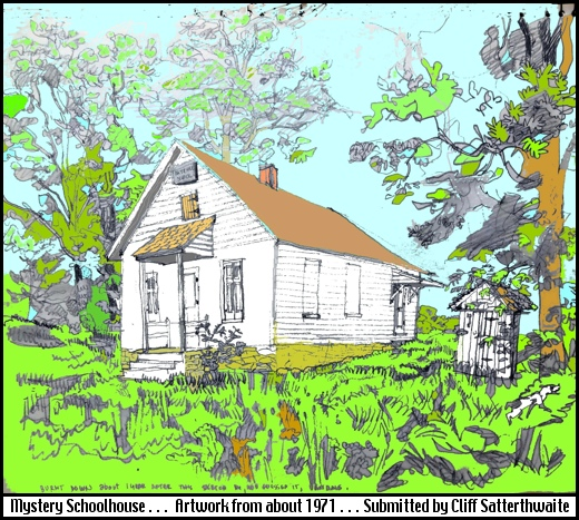 Artwork of One-Room Schoolhouse (From 1971 Sketch by Cliff Satterthwaite)