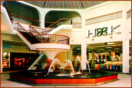 The Jumping Fish Fountain in the York Mall (Circa 1970 Photo from Archives of Springettsbury Township Historic Preservation Committee)