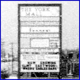York Mall sign along East Market Street (1969 Photo from Archives of Springettsbury Township Historic Preservation Committee)