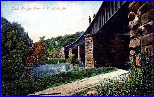 Black Bridge, Penn. R. R., York, Pa. (Postcard from S. H. Smith Collections)