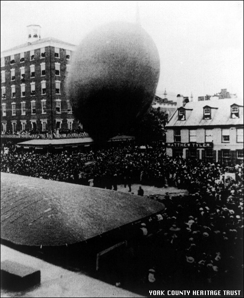 Last Balloon Ascension of Dr. James A. Dale (1886 Photo in Collections of the York County Heritage Trust)