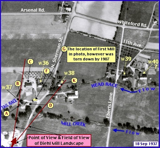 Penn Pilot Historic Aerial Photo taken September 18, 1937 (Annotated by S. H. Smith, 2015)