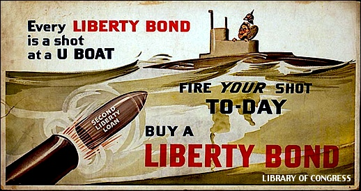 Poster for 1917 Liberty Bond Drive (Library of Congress, Prints and Photographs Division)