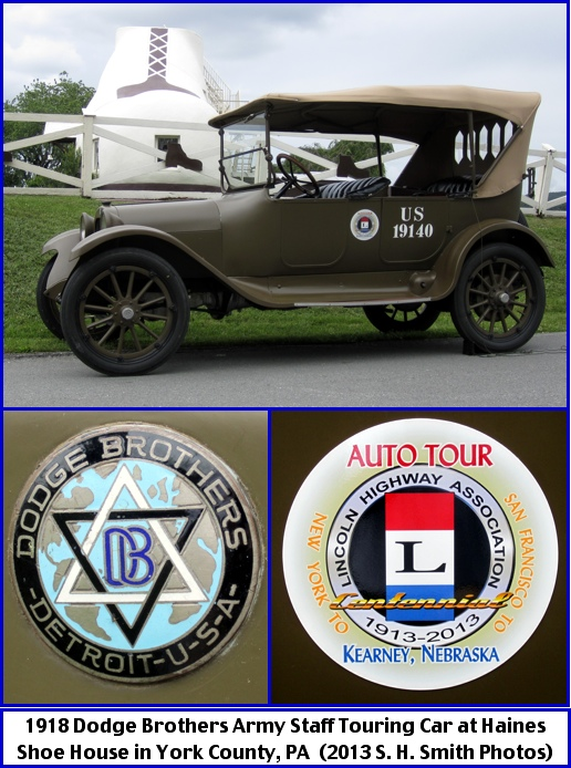 1918 Dodge Brothers Army Staff Touring Car at Haines Shoe House in York County, PA (2013 S. H. Smith Photos)