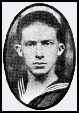 George B. Hoffman, Killed in Action May 31, 1918, with the sinking of the U.S.S. President Lincoln (Photo from Hall & Lehn Publication, Page 108; York County Heritage Trust)