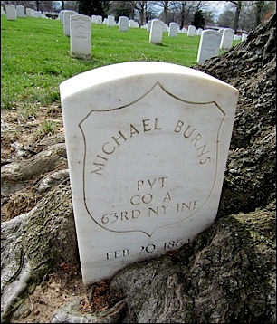 Civil War headstone along McPherson Drive in Arlington National Cemetery (2016 Photo by S. H. Smith)