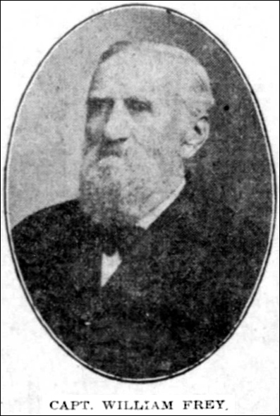 Photo of Capt. William Frey (Photo in the February 14, 1910, issue of The York Daily)
