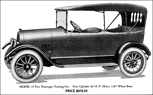 Bell Model 17 illustration in 1917 Catalog of The Bell Motor Car Company of York, Pennsylvania (Collections of S. H. Smith)