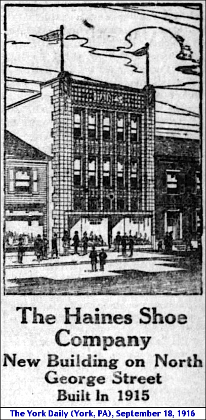 Haines Building at 231 North George Street, York, PA (The York Daily, September 18, 1916)