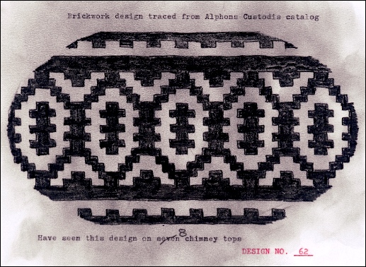 Brickwork Design traced from an Alphons Custodis catalog (Submitted by Sam Mills)
