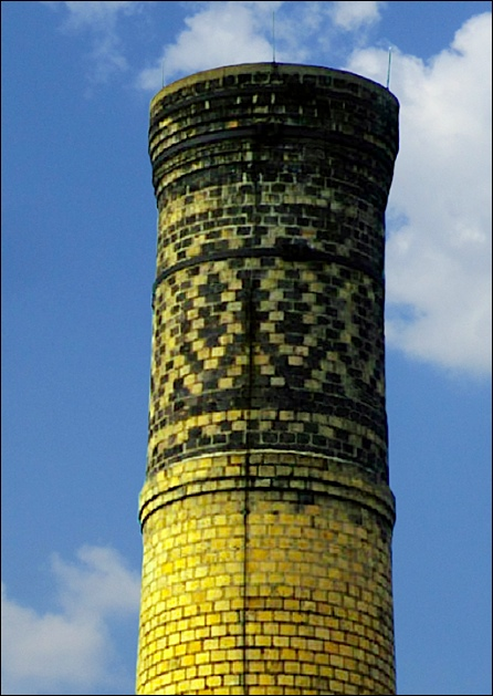 Ornamental Brickwork Design used by Alphons Custodis, believed to be 1910 Smokestack at Edison Electric Plant in York, PA (Submitted by Sam Mills)