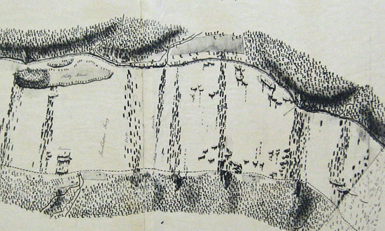 B.H. Latrobe's 1801 map showing the Peach Bottom ferry.