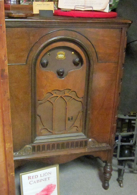 By 1928, just a few years after the development of radio cabinets, they were already pieces of furniture, like this Atwater Kent model.